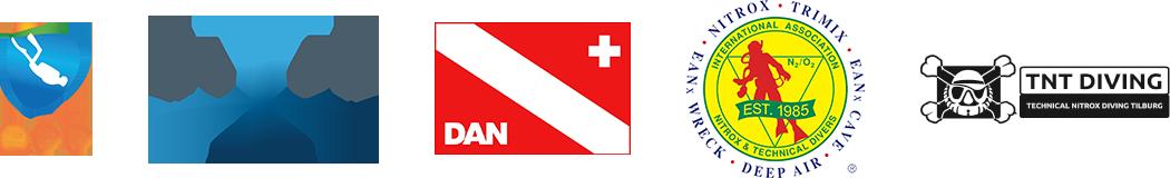 Logo's van duikorganisaties